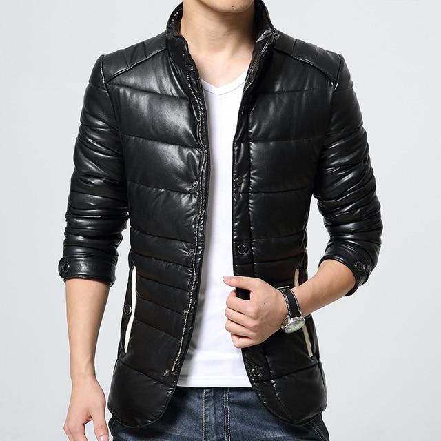 Новая зима 2016 мужская кожа кожа Овец кожаный ошейник кожаная куртка