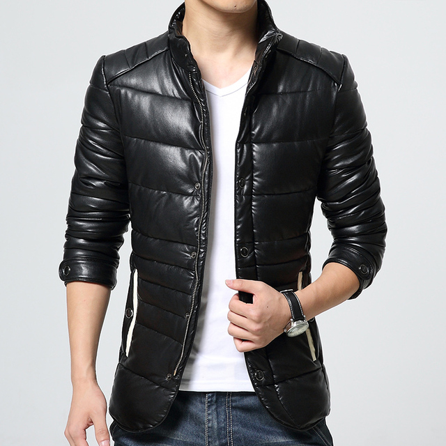 The new winter 2016 Men's leather leather Sheep leather collar leather jacket
