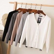 27 сплошной цвет женский вязаный кардиган пальто осень зима Повседневный v-образный вырез длинный рукав вязаный крючком свитер пальто женские топы