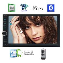 Android 6.0 Car Stereo Capacitive Touch Screen without DVD Player support GPS Navigation Radio USB WiFi Backup and Front Camera