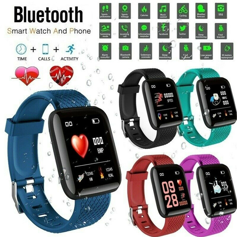 Esporte Relógio Inteligente 116 MAIS Pulseira D13 Inteligente da Frequência Cardíaca Pressão Arterial Vida À Prova D' Água Para o IOS 8.4 e Android 4.4 acima