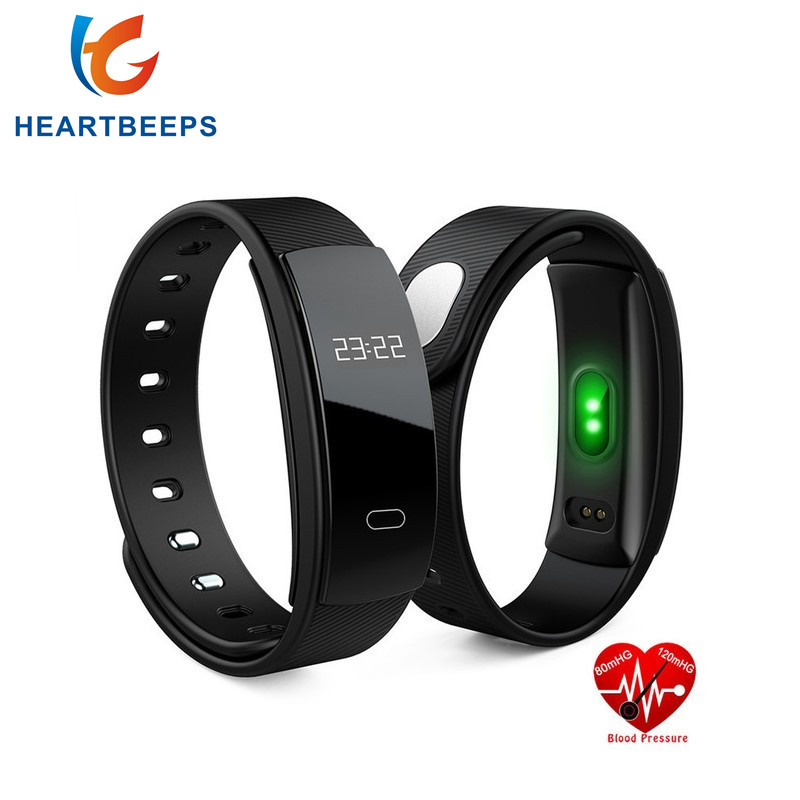 QS80 Smart Wristband Blood Pressure Fitness Tracker Heart Rate Monitor Sleep Tracker Bracelet Smart band For IOS Android