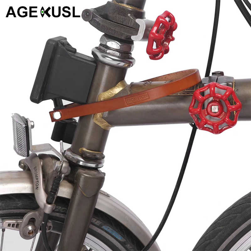 TWTOPSE S Bicycle Bag Racks Leather Tape For Brompton Bike Bicycle Bag Cargo Rack Front Carrier Block Light Bike Part Accessory