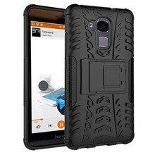 Для Honor 5C Case Heavy Duty Силиконовый Броня Подставку Случаях Для Huawei Honor 5C GT3 Honor 7 Lite Шок Обложка Телефон Жесткий Fundas