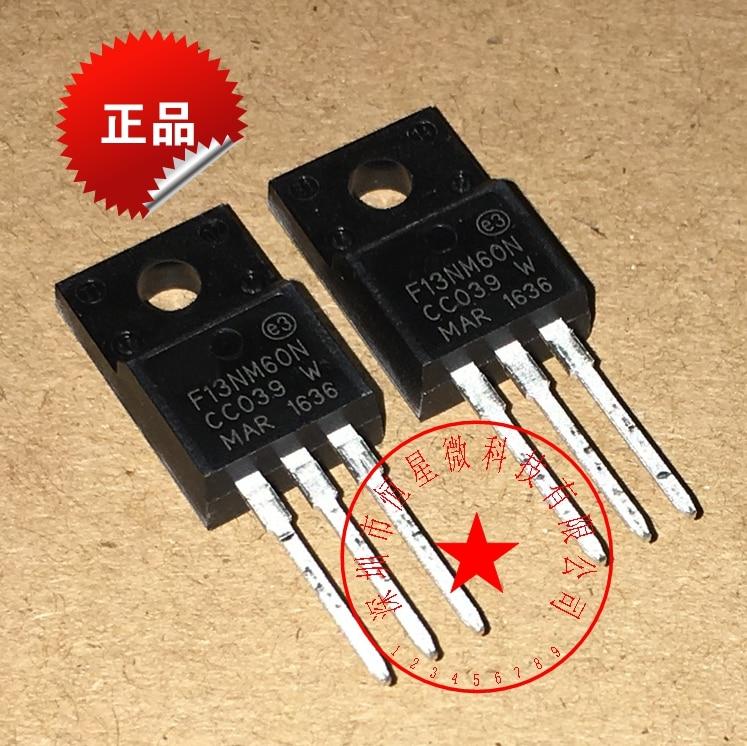 10PCS Free Shipping STF13NM60N 13NM60N 13NM60 MOSFET N-CH 600V 13A   TO-220F