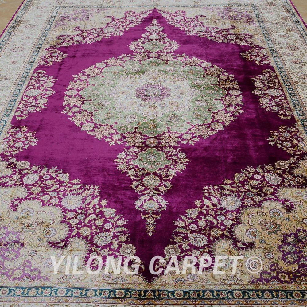 Yilong 6.56'x9.84 'на едро турски килим лилав - Домашен текстил - Снимка 4