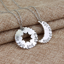 1set Game Of Thrones His Hers Khal/Khaleesi Lovers Necklaces Chain Moon Of My Life,My Sun Stars Pendants charms fashion welry