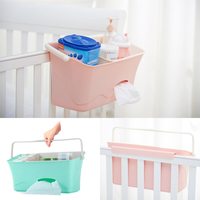 Baby Crib Bed Hanging Bag Portable Waterproof Diapers Bedside Organizer Bed Bumper Cradle Bag Crib Bedding Set