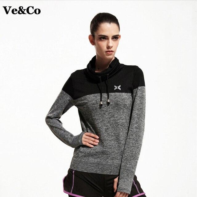 VE&CO Autumn New Gym Fitness Yoga Shirts 2017 Casual Compression Shirts Long Sleeve Women's Sport Tees Tops Camiseta Yoga Coat