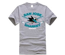 fcab08bd3 GILDAN New Man Design T-shirt Print Annabelle Men s San Joses Shark Short  Sleeve Sportsy