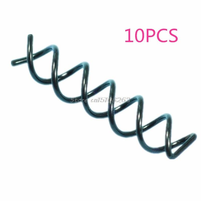 10Pcs Spiral Spin Screw Pin Hair Bun Coil Clip Barrette Clip Stick Comb Black -Y207 Drop Shipping