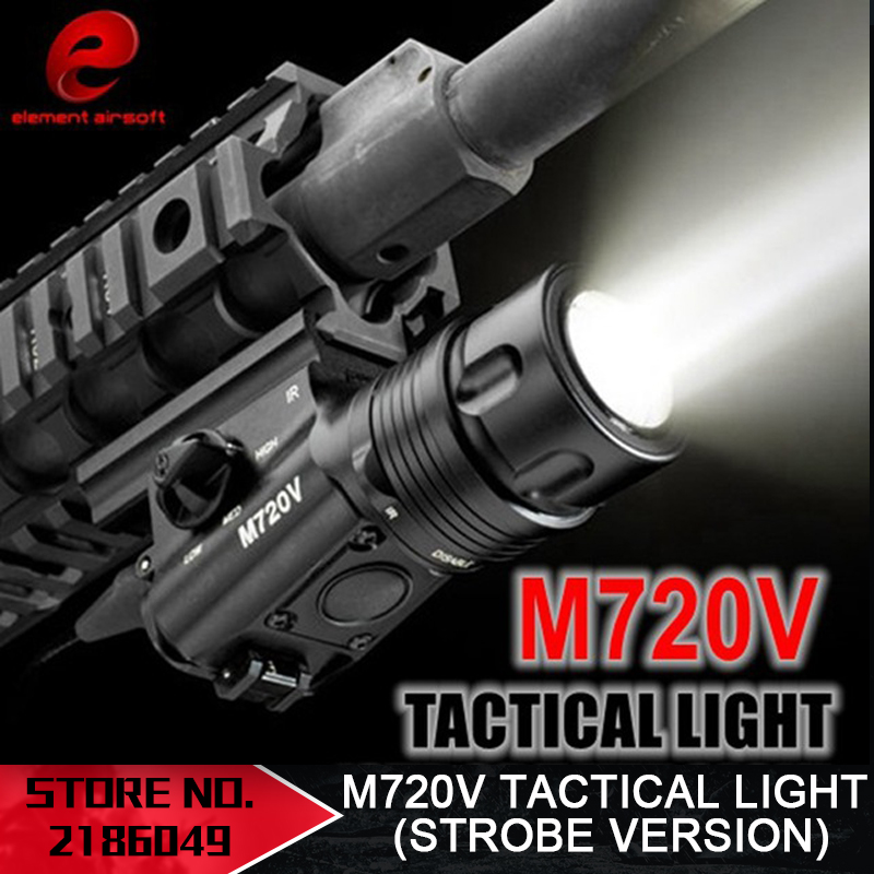 Element Airsoft SF M720V Light Strobe Version Switching Cepat Detachable LED Senjata Cahaya Tactical Light Laser EX273