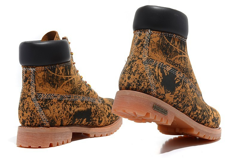TIMBERLAND Animal Prints Camouflage Leopard Men Premium Ankle Martin Boots,Man Genuine Leather Timber Outdoor Casual Shoes 10082 4
