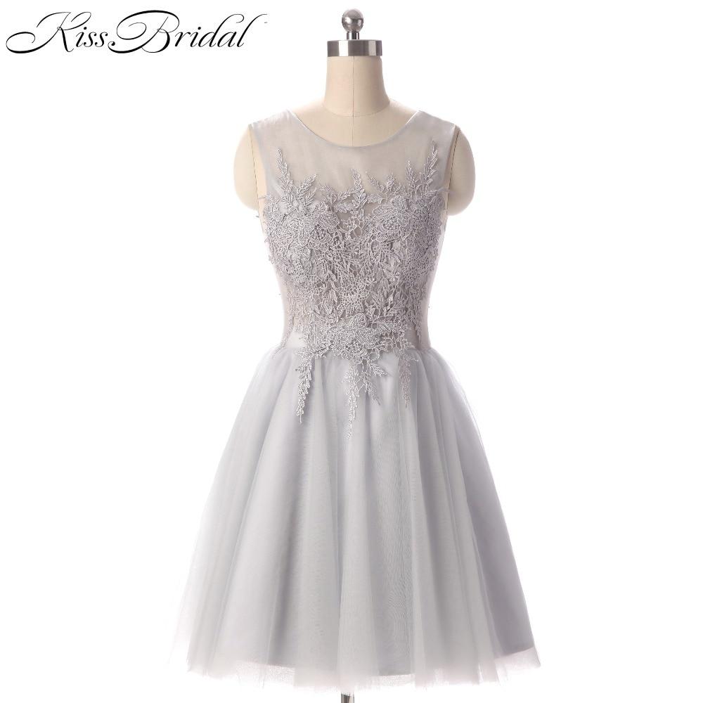 Vestidos De Coctel Lace Appliques Short   Cocktail     Dresses   2017 Sheer Neck Short Prom Party   Dresses   Robe De   Cocktail