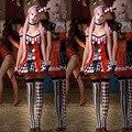 Disfraces de halloween para las mujeres divertido payaso de circo traje de fantasía adultos naughty harley quinn cosplay dress ropa