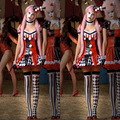 Halloween Costumes for Women Funny Circus Clown Costume Adult Fantasy Naughty Harley Quinn Cosplay Dress Clothing