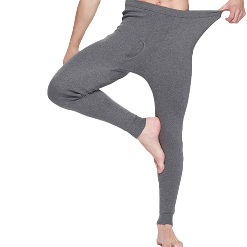 YJSFG HOUSE Men Thermal Underwear Pants Winter Warm Cotton Long Leggings Pants Thermal Underwear Bottoms Male Underwears