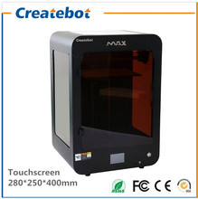 Createbot Max 3D Printer Printing Size 280 250 400mm with Touchscreen Dual nozzle and Heatbed