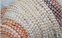 Wholesale Top Real Pearl White Fill Rice Bead 6 7mm Natural Pearl Highlight Pearl 40cm Strand