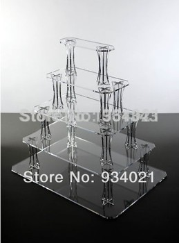 Hot selling free shopping/5 tier clear acrylic rectangle cake stands, rectangle acrylic cupcake stand for sale