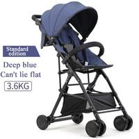 5 free gifts! Can be directly boarded 3.6 kg fold stroller can sit and lay cotton and lie material high landscape stroller