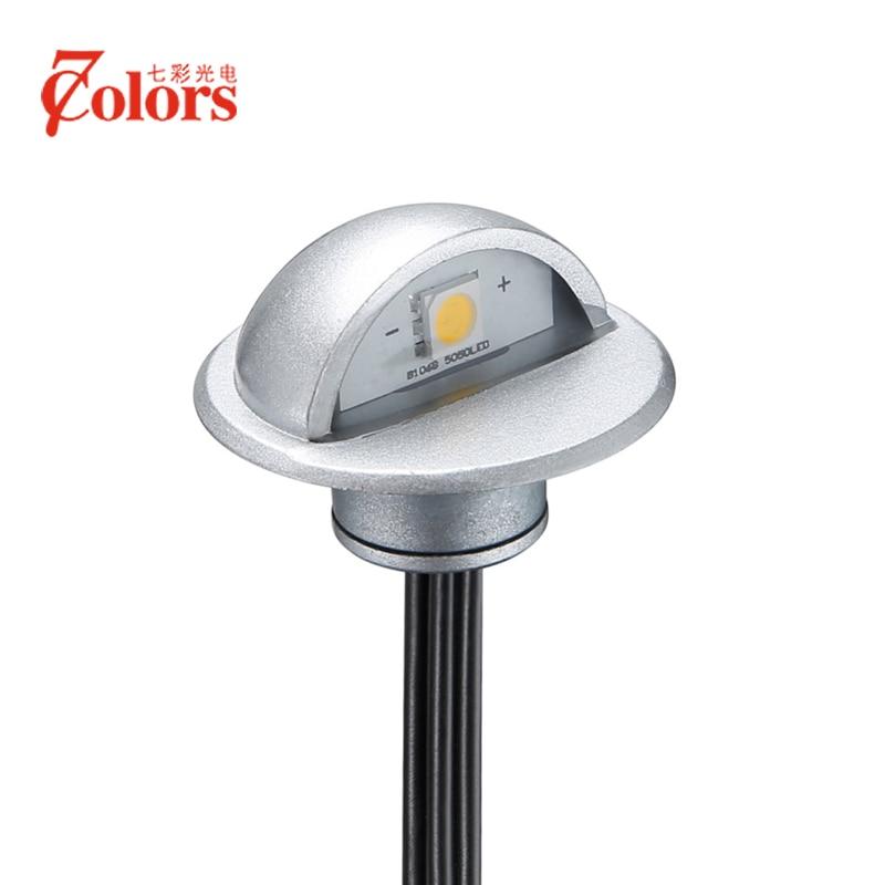 10st / massor inomhus och utomhus LED-stegsteg Belysningsarmaturer Vattentät Inbyggda i väggdäcklampa DC12V IP65 med CE & RoHs