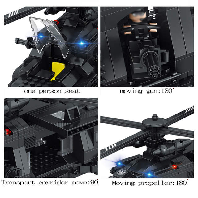 Sluban 0108 Toys Military Army Building Blocks Compatible LegoINgs  educational toys Minecraft City DIY Team Transport Helicopter