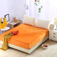 Crystal Velvet Fitted Sheet 25cm Deep Bed Sheet No Slipping 360 Degree Elastic Band Soild Color Single Double Bedding Grey Royal