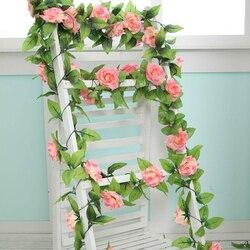 Flores artificiais decoração de casa flor de casamento falso rosa artificial flor de corda festa festival decoração de casa flor jsx ghmy