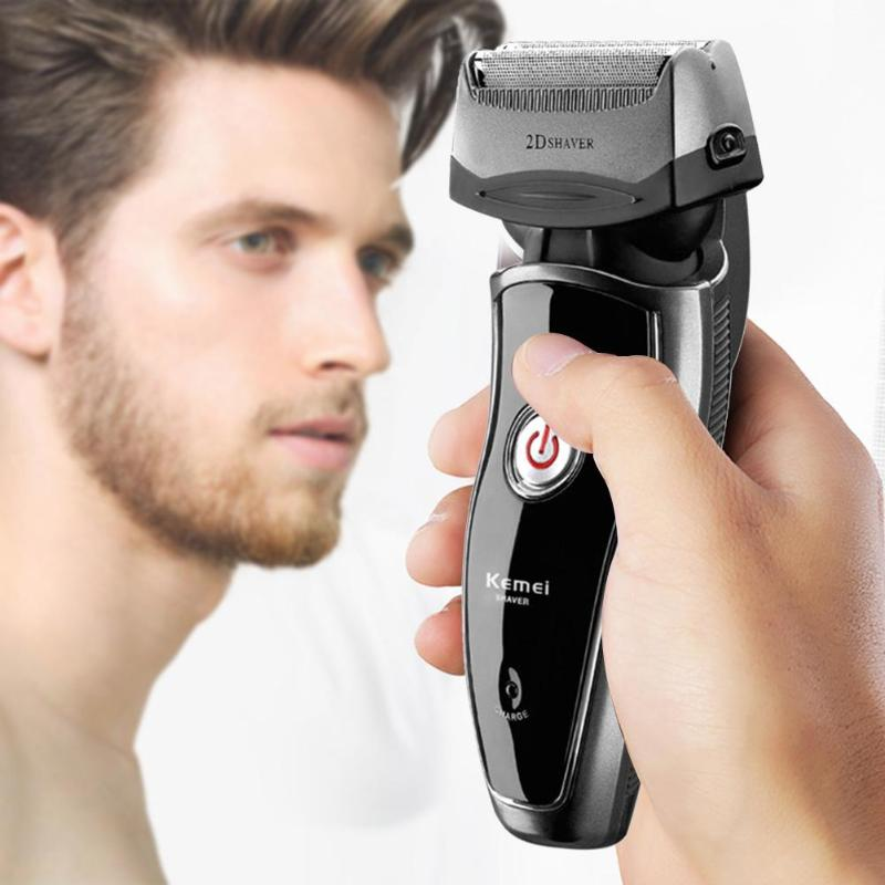 Kemei KM-8009 Electric Shaver Reciprocating Beard Trimmer Shaver for Men Rechargeable Razor Shaving Machine Men Face Care kemei km 1720 rechargeable reciprocating cordless blade electric razor shaver for men shaving machine face care eu plug