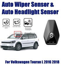 Car Automatic Rain Wiper Sensors & Headlight Sensor For Volkswagen VW Touran L 2016~2018 Smart Auto Driving Assistant System zx series smart sensors zx l n sensor head with amplifier laser sensor