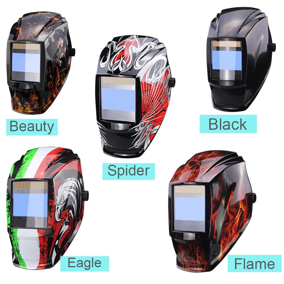 Mascara de soldar con pantalla grande de oscurecimiento automático