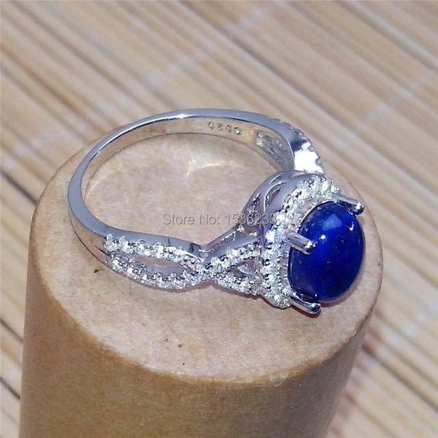 Free Shipping RI S 0012 lapis lazuli engagement ring S925 silver