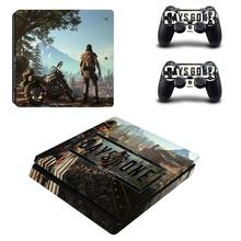 Days Gone PS4 Slim Skin Sticker Decal For Sony PlayStation 4 Console and 2 Controllers for DualShock 4 PS4 Slim Skins Stickers