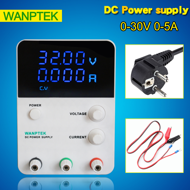 Newest Wanptek GPS305D Adjustable Switching Regulated Power Supply Digital,input 220v 0-30V 0-5A DC Power Supply dc power supply adjustable digital lithium battery charging dc power supply 30v 5a switching power supply for phone repair