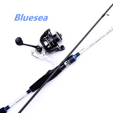 Bluesea High carbon spinning body 2.1 meters hard pole fishing telescopic rods carp rodgrips straight shank road combo