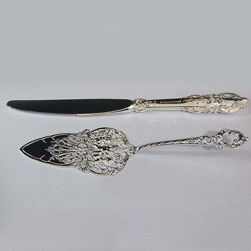 Hot Sell Stainless Steel Baroque Flatware Wedding Cake Knife Shovel