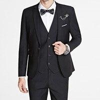 3 Pieces Sets Men S Business Casual Slim Fit Suit Blazers Groom Wedding Dress One Button