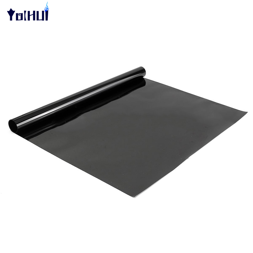 2PLY 0.5x3m 5% 15% 30% VLT Dark Black Privacy Car Home Glass Window Tint Tinting Film Vinyl Roll the window office paper sticker pervious to light do not transparent bathroom window shading white frosted glass tint