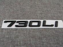 Black ABS Number Letters Word Car Trunk Badge Emblem Letter Decal Sticker for BMW 7 Series 730Li стоимость