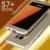 Novo luxo chegada magro telefone no vidro traseiro para samsung galaxy s7 s7 edge com acessórios de alta qualidade do metal bumper case de proteção