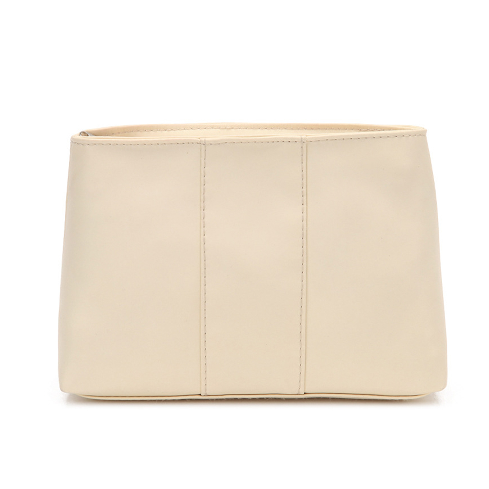 Beige Clutch Cosmetic Bag Portable Small Storage Bag <font><b>Miscellaneous</b></font> Storage Pouch Fashion <font><b>Handbag</b></font> for Female