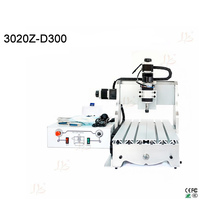 300W mini cnc router cnc 3020 3 axis cnc milling machine woodworking engraver with Ball screw