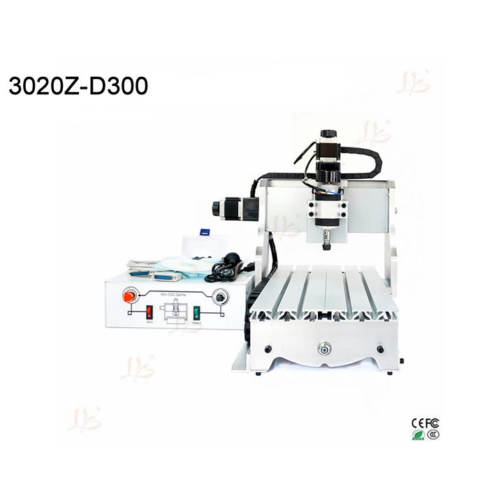 300W mini cnc router cnc 3020 3 axis cnc milling machine woodworking engraver with Ball screw sega