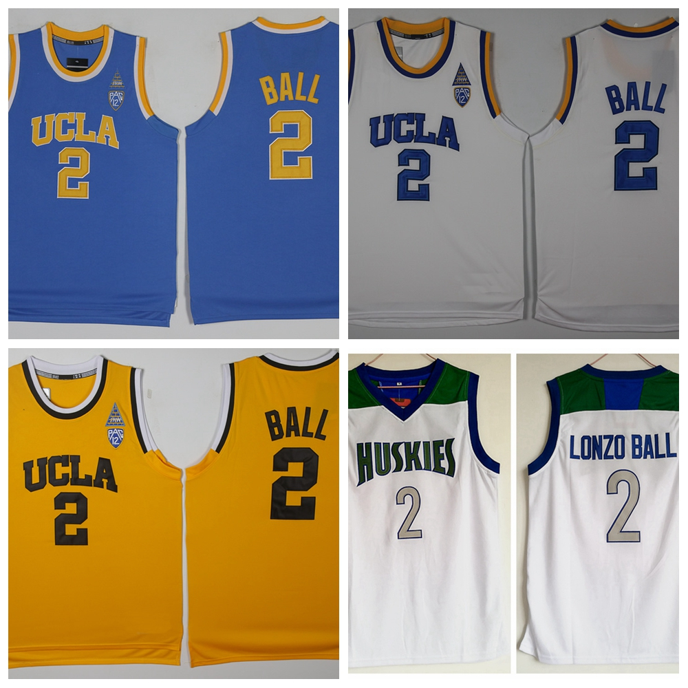 f8797bcc1 UCLA Bruins College Basketball Jerseys  2 Lonzo Ball Jerseys Throwback  Stitched Light Blue White Chino Hills Huskies High School-in Basketball  Jerseys from ...
