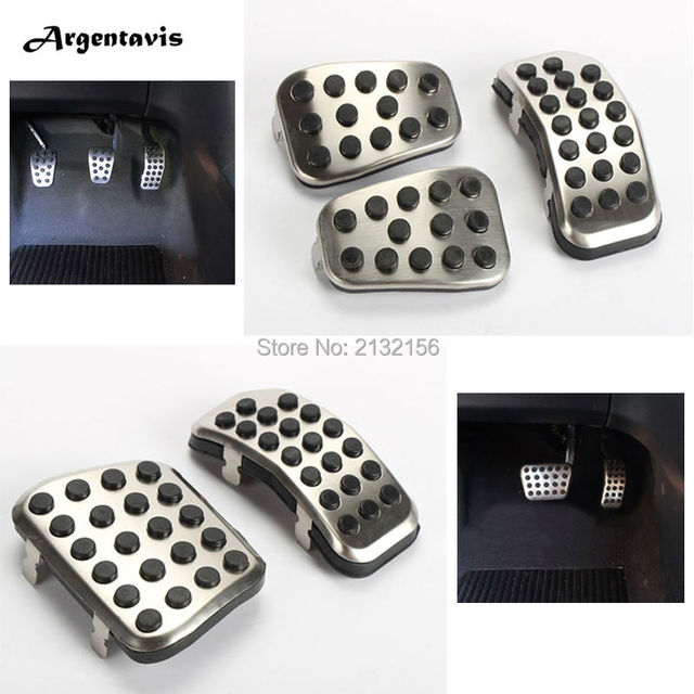 Car styling  pedals for Ford Fiesta Ecosport AT MT Accelerator Brake Cluth car pedal pad covers  stainless Auto accessories