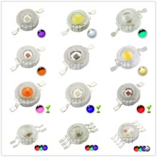 10pcs Real Full Watt  1W 3W High Power LED lamp Bulb Diodes SMD 110-120LM LEDs Chip For 3W - 18W Spot light Downlight 3w high power led downlight decoration 10pcs