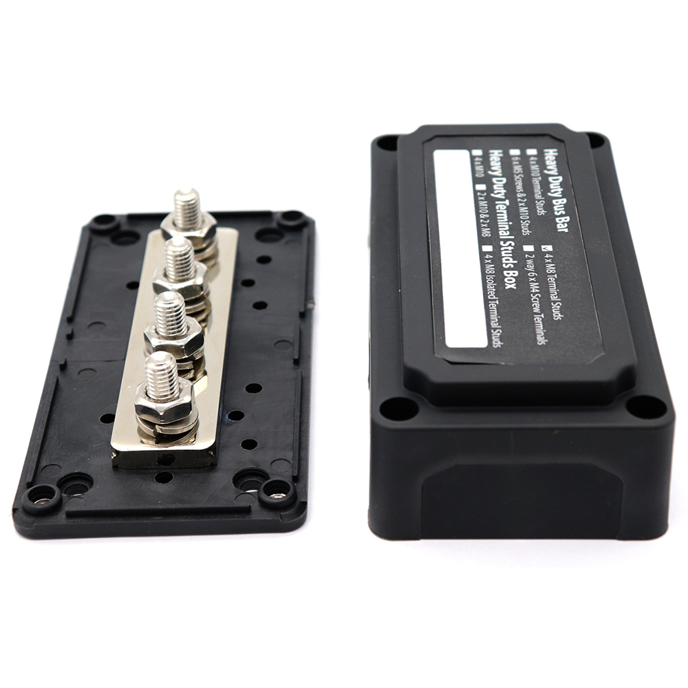New Heavy Duty Module Design Bus Bar Box Terminal Board 300A with 4 Terminal Studs Car Styling Highest amperage rated bus bar|Fuses| |  - title=