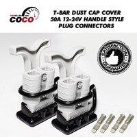 2 Zestaw SB ST 50 Amp 50A 600 V Wtyczki elektryczne złącze + czarny koniec cover Dust Cap + kabel terminala + T Chwytu Dłoni uchwytem