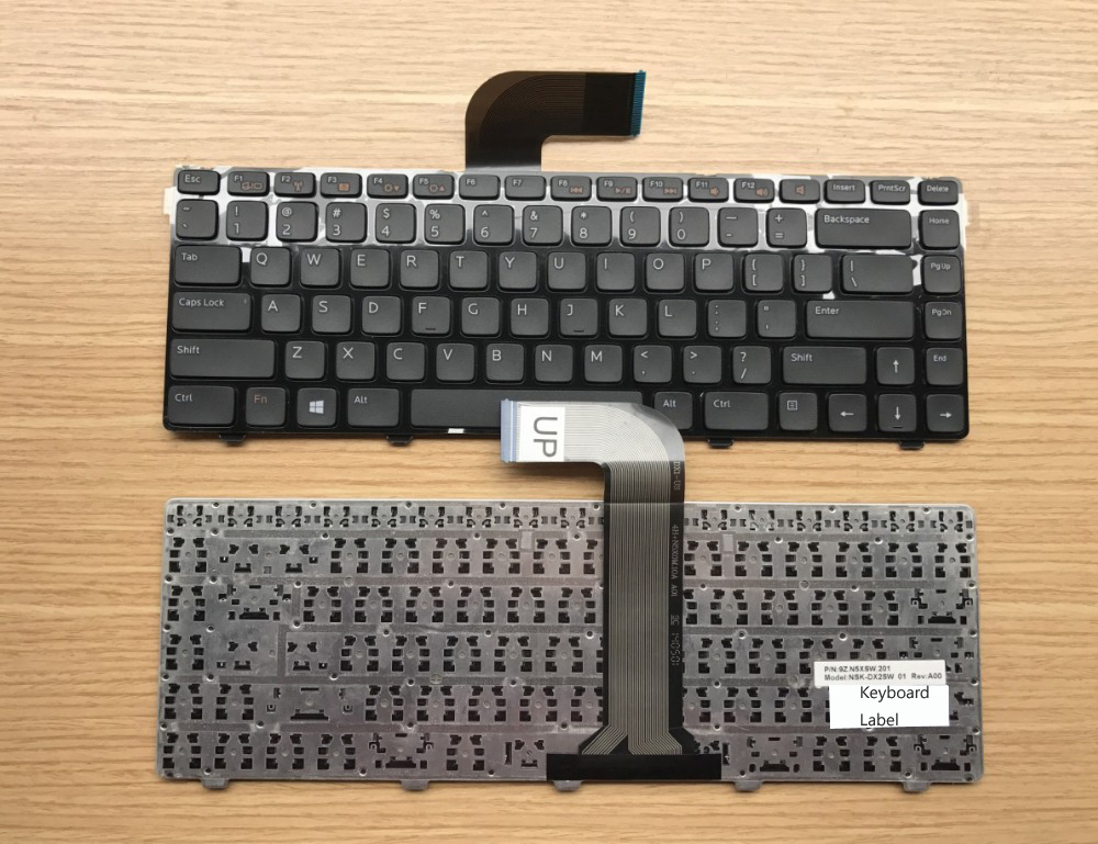 New notebook laptop keyboard for DELL Inspiron M4120 M421R M5040 M5050 us layout xps13 us layout laptop keyboard for dell xps 13 9333 keyboard 9343 9350 l321x l322x notebook black keyboard win7